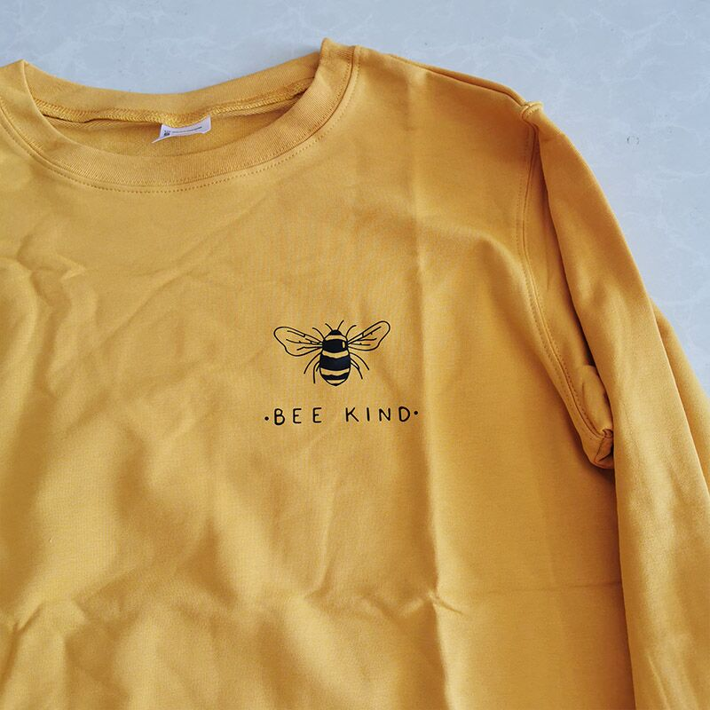 Bee Kind Women Sweatshirt Causal Womens Hoodies